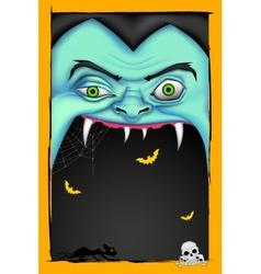 Halloween message vector