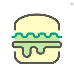 hamburger icon design for food graphic design vector image