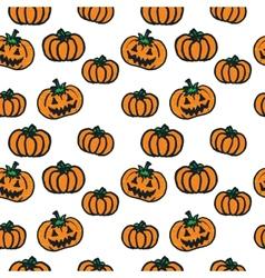 Hand-drawn Halloween pumpkins vector