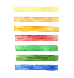 hand drawn watercolor set of brush strokes vector image
