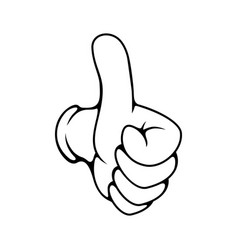 Hand gesture thumb up ok sign vector