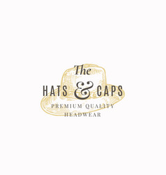 hats and caps store abstract sign symbol vector image