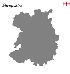 High quality map is a ceremonial county england vector