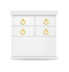 hight white drawer mockup realistic style vector image