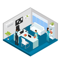 Isometric professional cleaning service concept vector