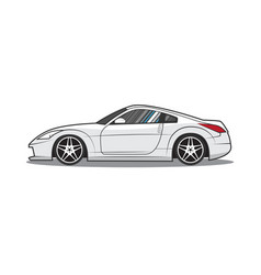 japan sport car side view vector image