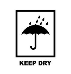 keep dry umbrella delivery packaging symbol vector image
