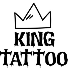 king tattoo background image vector image