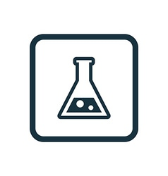 Laboratory icon Rounded squares button vector