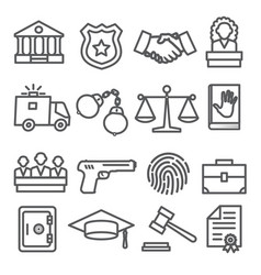 law line icons set on white background vector image
