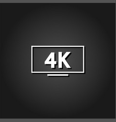 lcd 4k icon flat vector image