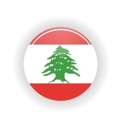 Lebanon icon circle vector image