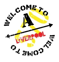 Liverpool stamp rubber grunge vector