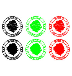 Made in sierra leone rubber stamp vector
