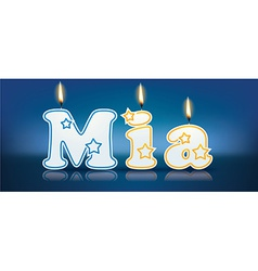 MIA written with burning candles vector