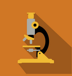 Microscope icon flat icon with long shadow vector
