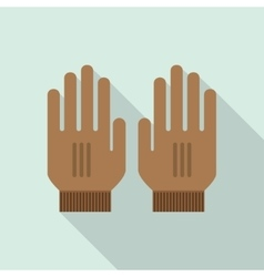 Mitten Gloves icon vector
