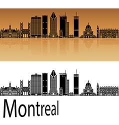 Montreal v2 skyline in orange vector