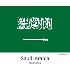 National flag of Saudi Arabia with correct vector
