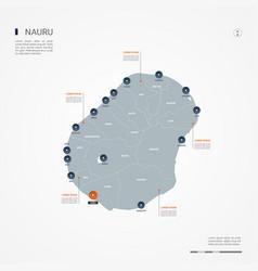 nauru infographic map vector image