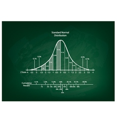 Normal Distribution Diagram or Bell Curve Chart vector image