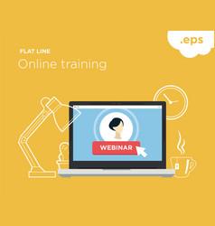 online flat-line training vector image