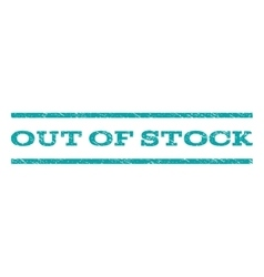 Out Of Stock Watermark Stamp vector image