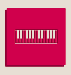 Piano keyboard sign grayscale version of vector
