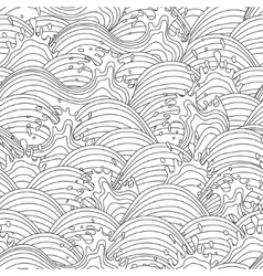 Sea wave background Seamless pattern vector image