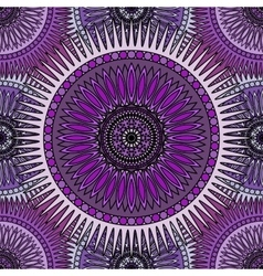 Seamless violet pattern with oriental mandalas vector
