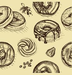 sketch doughnut vector image