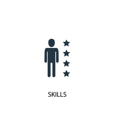 Skills icon simple element vector
