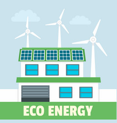 smart eco energy concept background flat style vector image