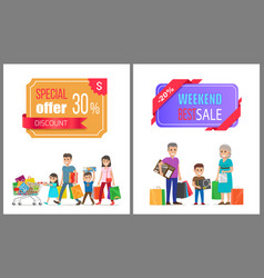 Special offer discount weekend best sale shopping vector
