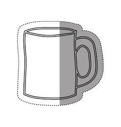Sticker silhouette big porcelain mug utensil vector
