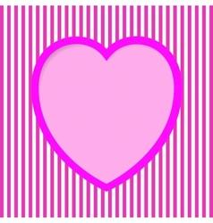 Striped Valentine Card vector image