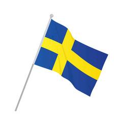Sweden national flag vector