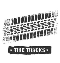 tire track print vector image