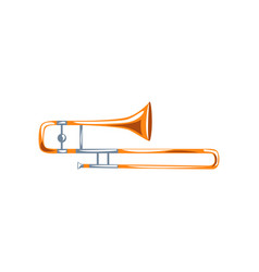 trombone classical music wind instrument vector image