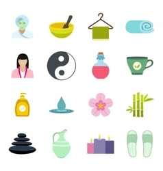 trophy and awards flat icons set vector image