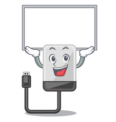 up board hard drive in shape of mascot vector image