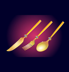 Vintage isometric set realistic of gold vector