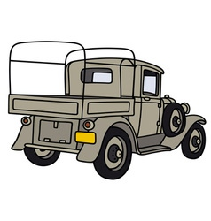 Vintage military truck vector image