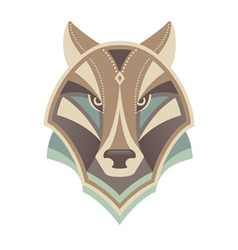 Wolf head abstract design vector