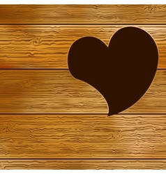 Wooden door heart shape EPS8 vector