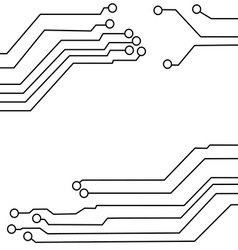 circuit board background texture vector image vector image