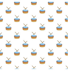 Colorful drum and drumsticks pattern vector