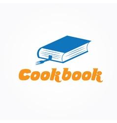 cookbook design template vector image