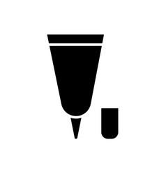cream tube small icon black vector image vector image