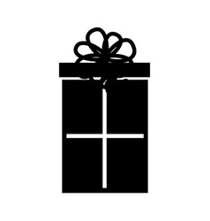 cute black icon christmas gift vector image